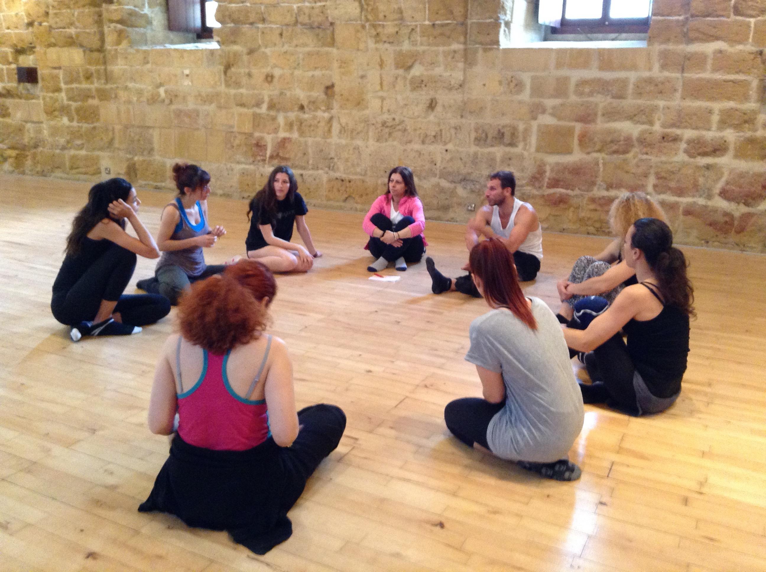 Σωματικό Θέατρο και Γείωση με Γιώργο Καραμαλέγκο Απρίλιος 2016